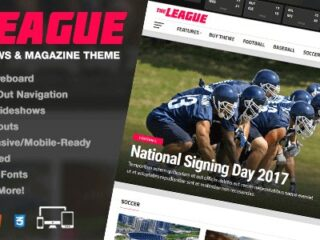 The-League-Nulled-Sports-News&Magazine-WordPress-Theme-download