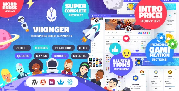 Vikinger-BuddyPress-and-GamiPress-Social-Community-Nulled-Download