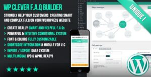 WP-Clever-FAQ-Builder-Smart-support-tool-for-Wordpress-Nulled-Download