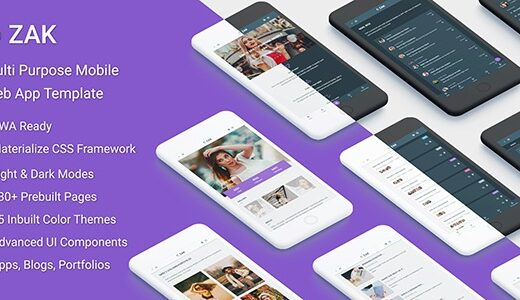 Zak-Multi-Purpose-Mobile-Web-App-template-Nulled-Download